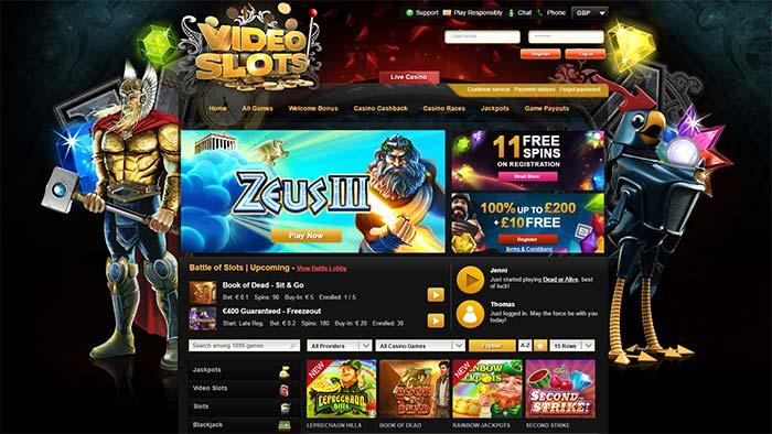 Videoslots Casino Landing Page
