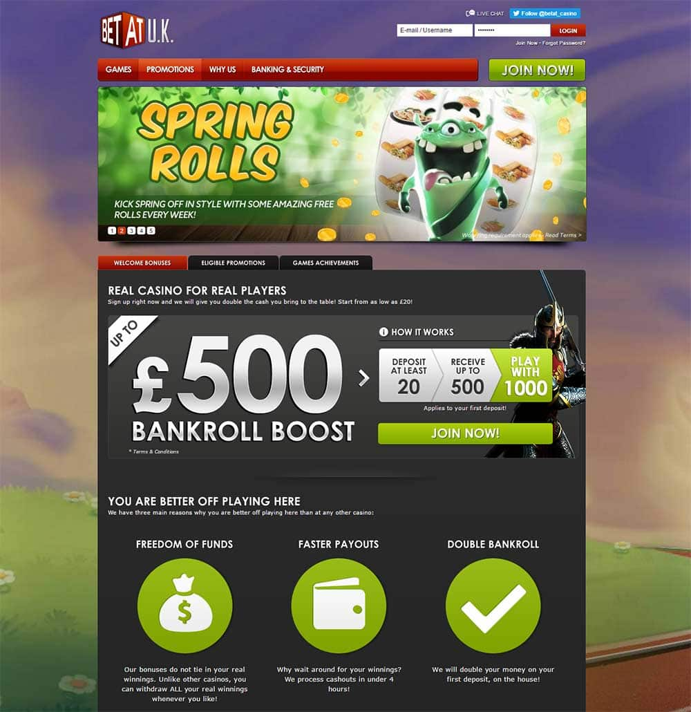 BetAt Casino Exclusive bonuses