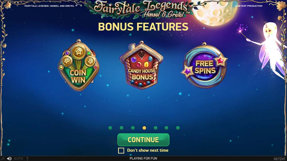 Fairytale Legends - Hansel & Gretel Slot - Intro Screen