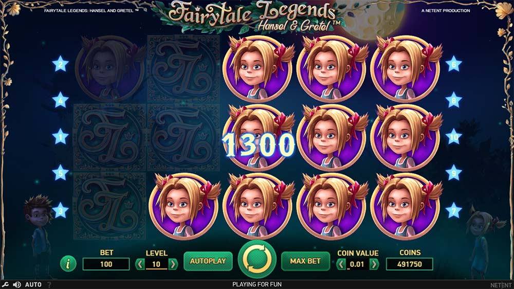 Fairytale Legends - Hansel & Gretel Slot - Stacked Symbols