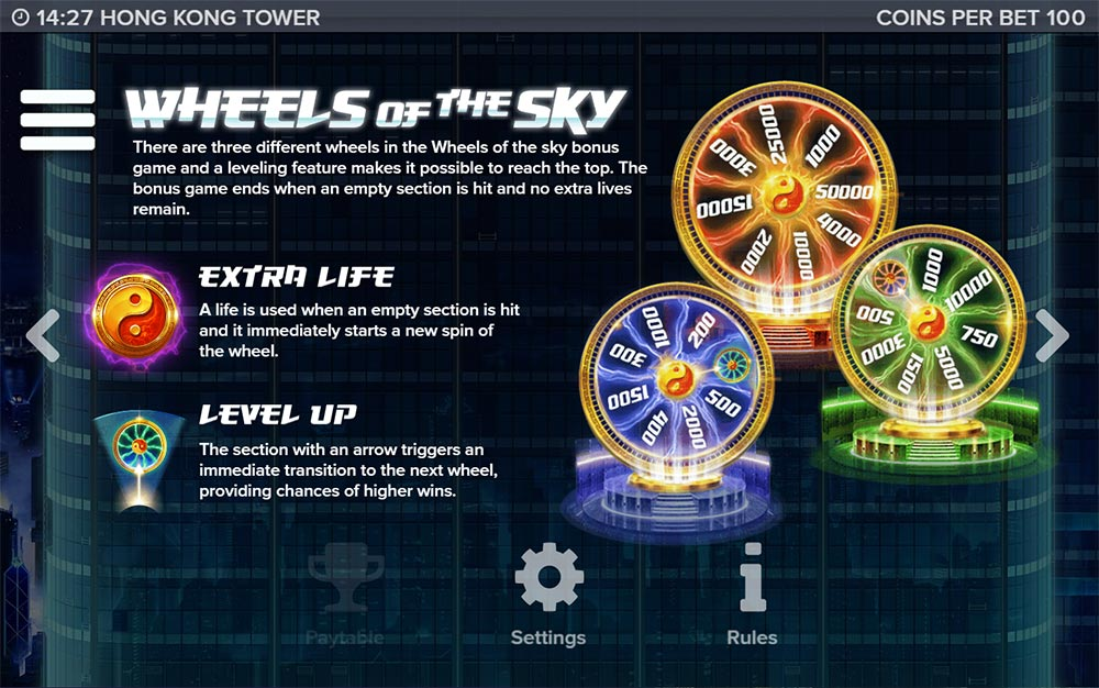 Hong Kong Tower Slot - Wheels of the Sky