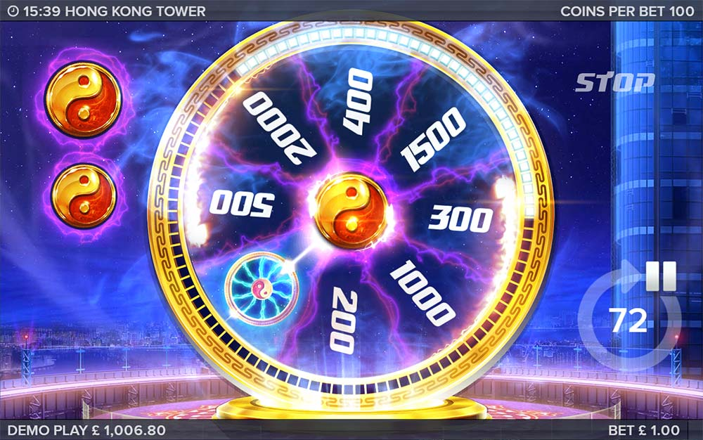 Hong Kong Tower Slot - Bonus Wheel + Extra Lives