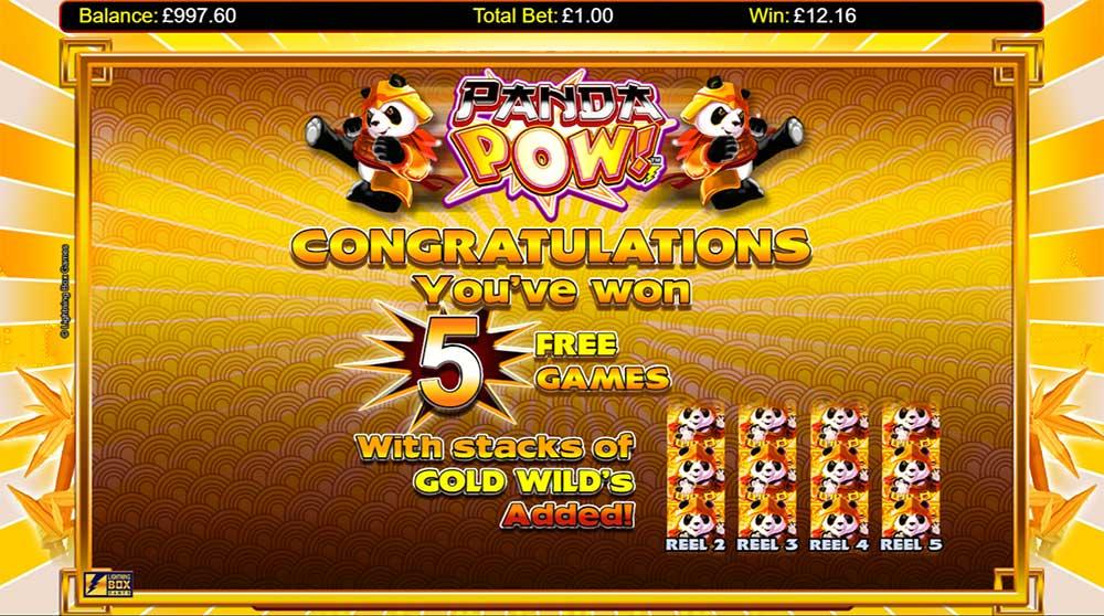 Panda Pow Slot - Free Spins Bonus