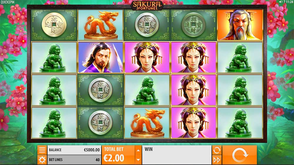 Sakura Fortune Slot - Base Game