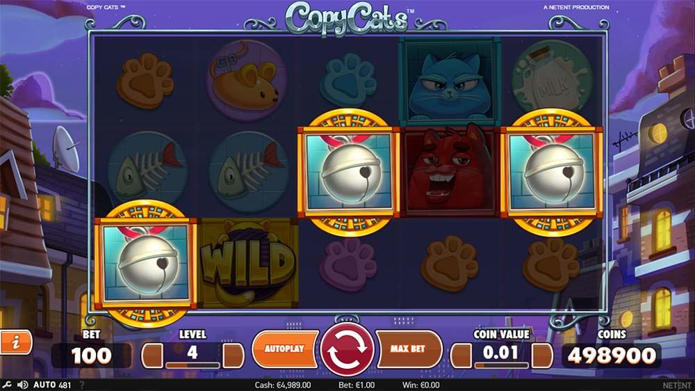 Copy Cats Slot - Free Spins Trigger