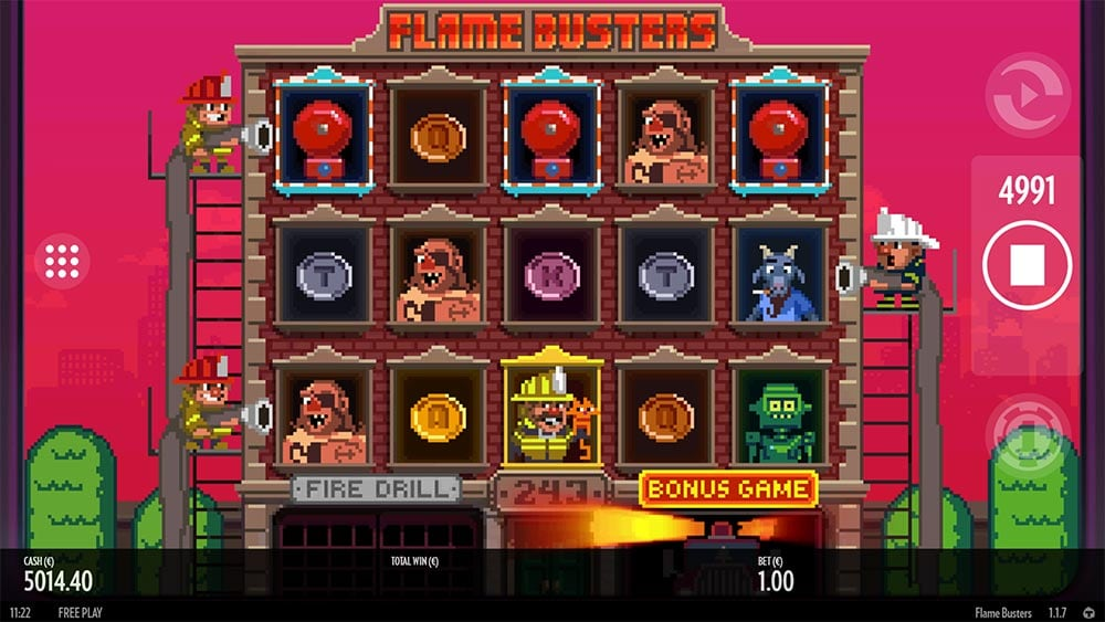 Flame Busters Slot - Free Spins