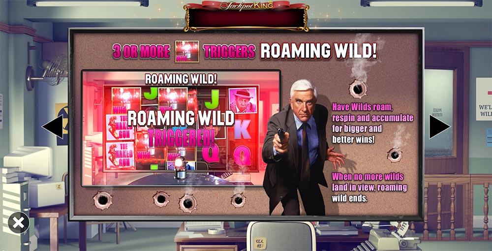 Naked Gun Slot - Roaming Wild Feature