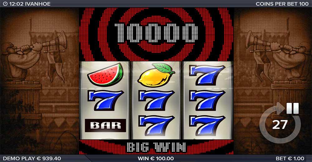 Ivanhoe Slot - Big Win