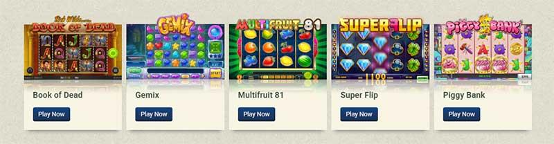 Play'n Go Slots range