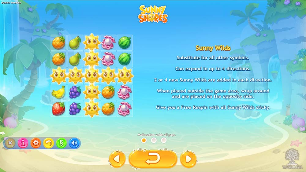 Sunny Shores Slot - Special Features
