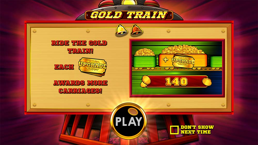 Gold Train Slot - Intro Screen
