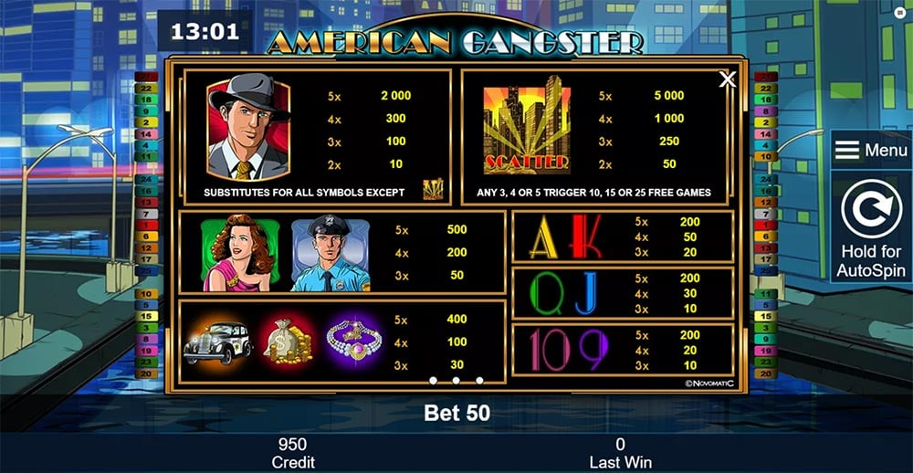 novomatic online casino quotes from american gangster