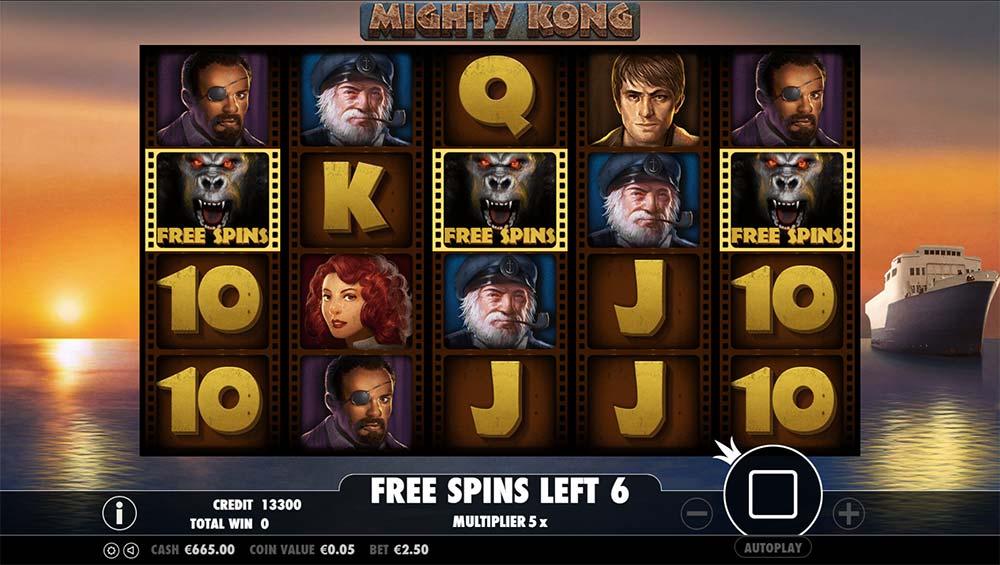 Mighty Kong Slot - Bonus Re-Trigger