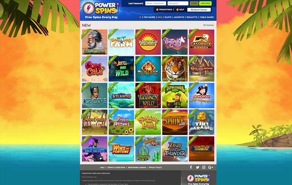 Power Spins Casino Review - Power Spins™ Slots & Bonus | powerspins.com