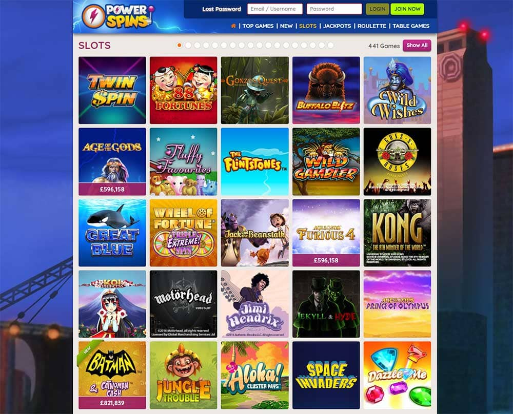 Powerspins Casino - Online Slots
