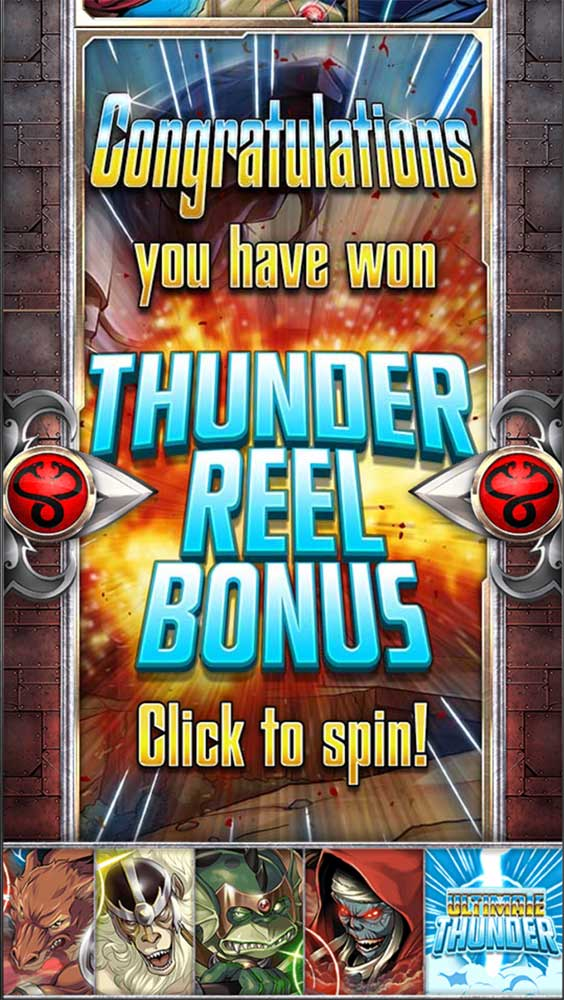 Thundercats Slot - Bonus Triggered