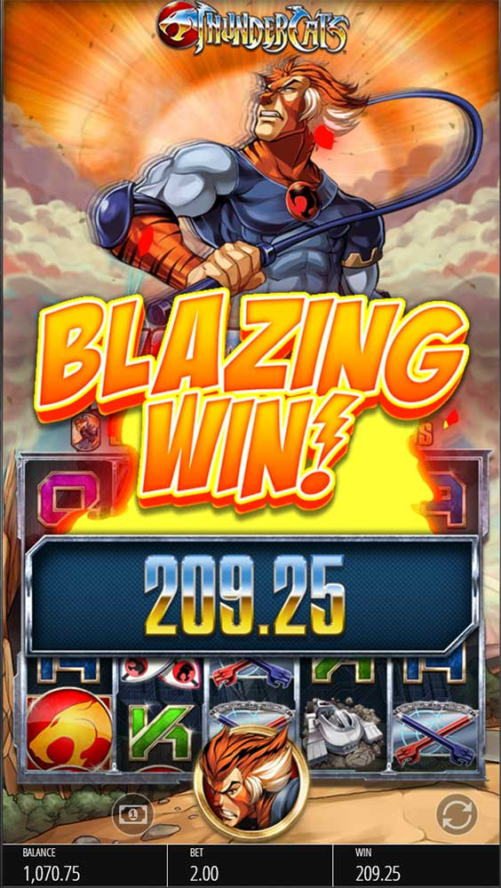 Thundercats Slot - Blazing Win