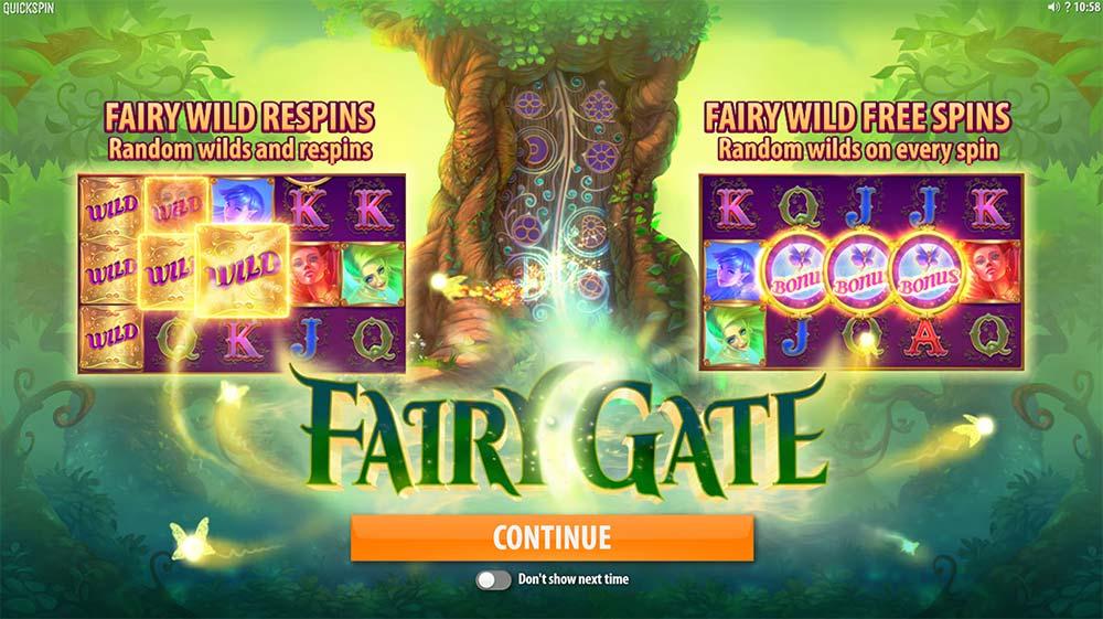 Fairy Gate Slot - Intro Screen