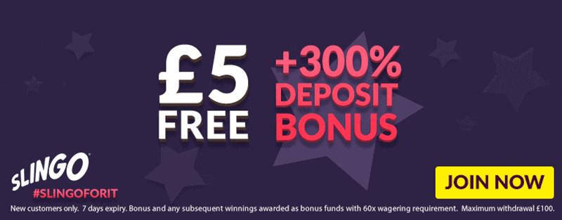 Free £5 No Deposit Slingo Casino