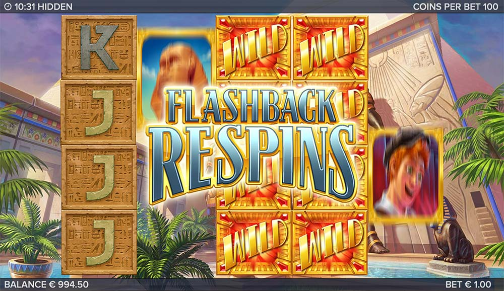Hidden Slot - Flashback Respins Triggered