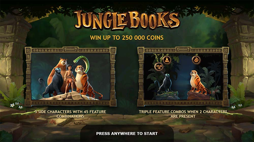 Jungle Books Slot - Intro Screen
