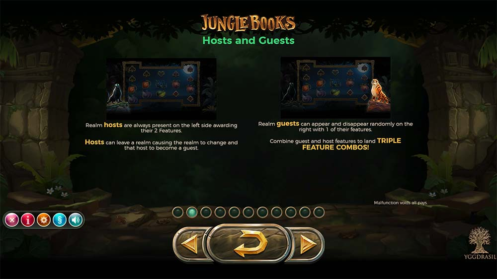 Jungle Books Slot - Host and Guests Features