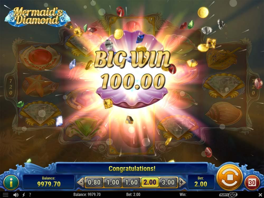 Mermaid's Diamond Slot - Big Win