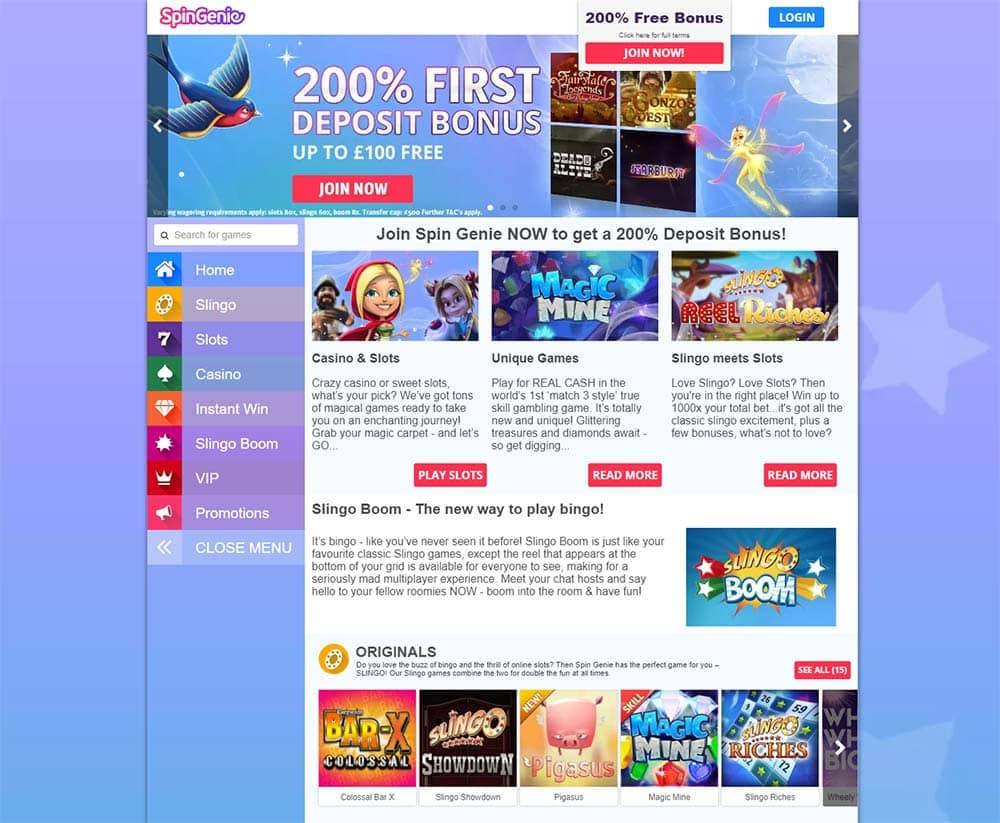 Spin Genie Casino - Home Page