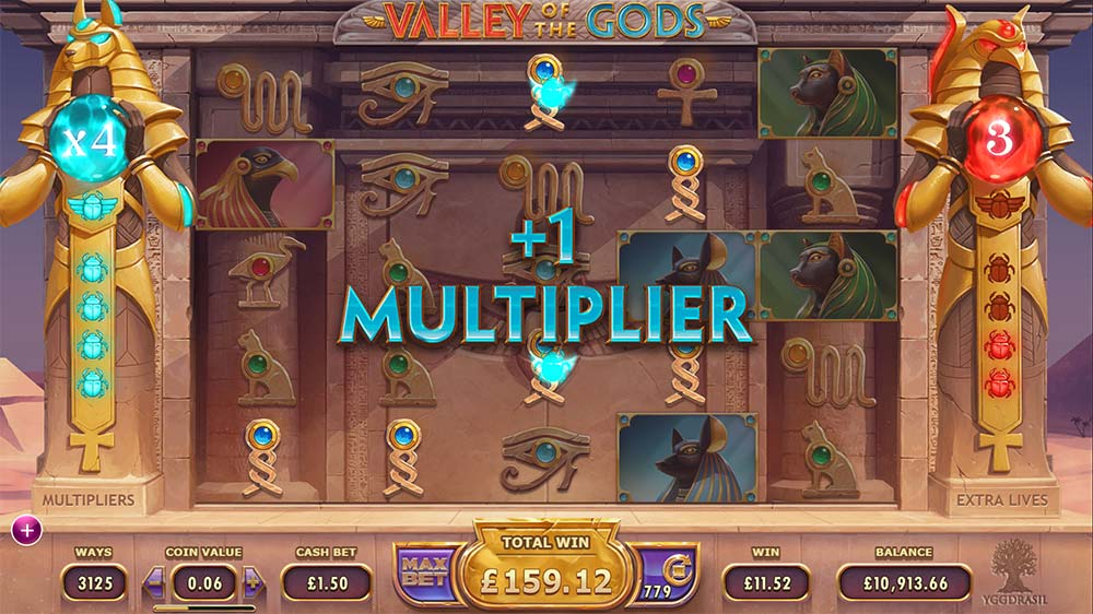 Valley Of The Gods Slot - Rising Multiplier