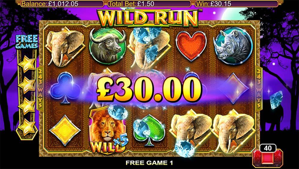 Wild Run Slot - Big Win