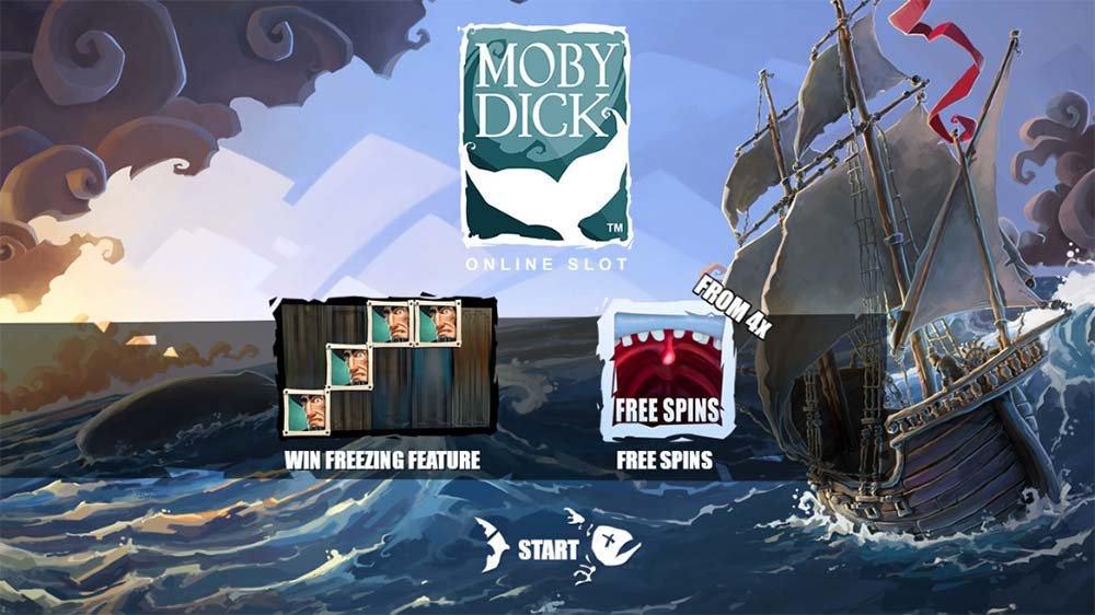 Moby Dick Slot - Intro Screen