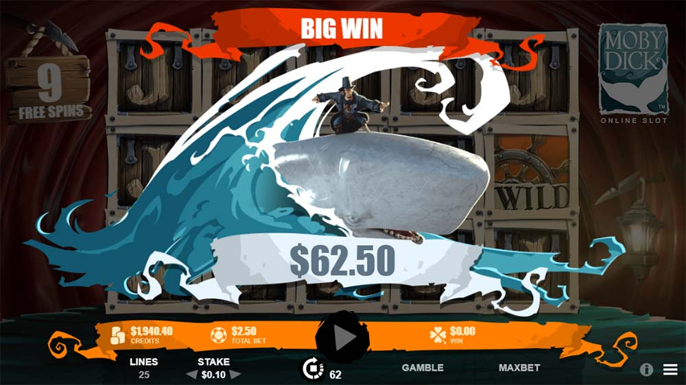 Moby Dick Slot - Big Win