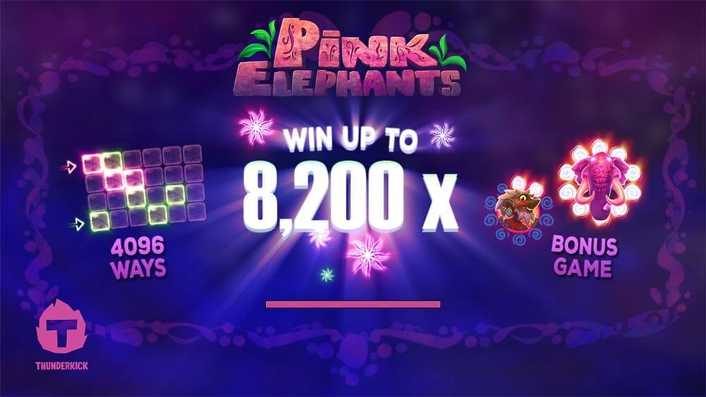 Pink Elephants Slot - Intro Screen