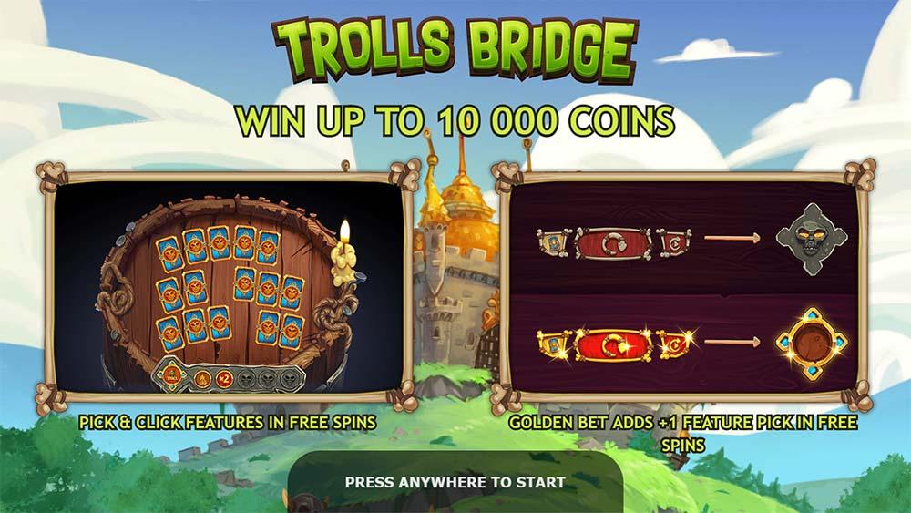 Trolls Bridge Slot - Intro Screen