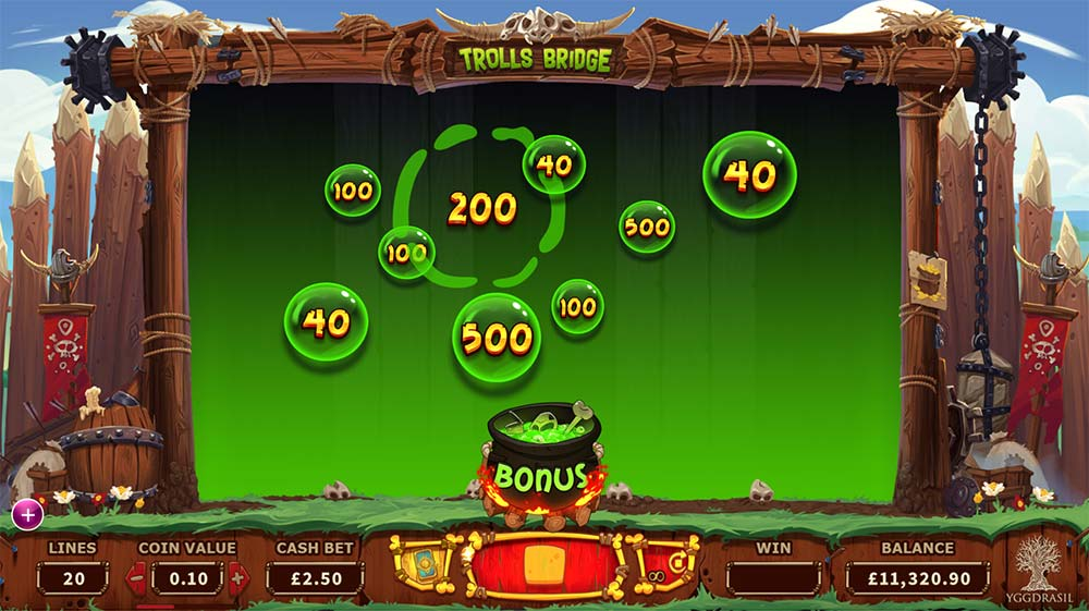 Trolls Bridge Slot - Bonus Pot Round