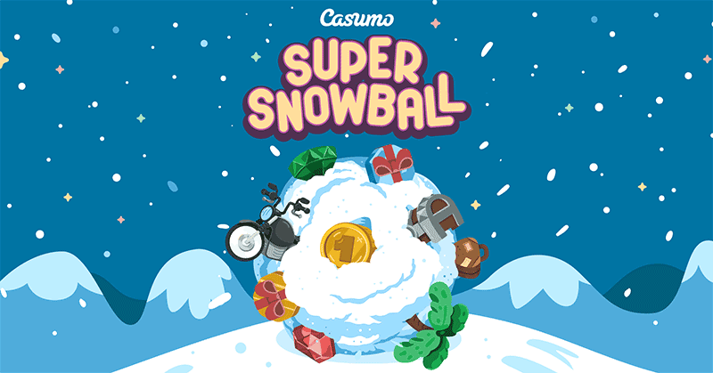 The Casumo Super Snowball is rolling with weekly prizes of up to €10,000