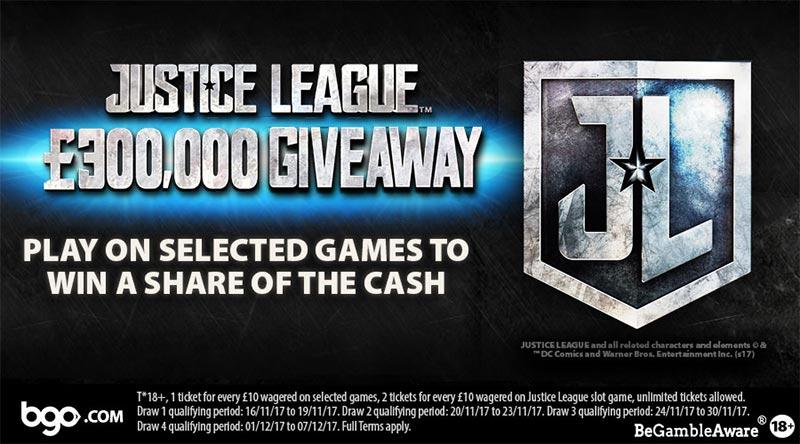 Justice League Slot £300,000 Cash Prize Giveaway