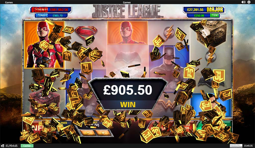 Justice League Slot - Bonus End
