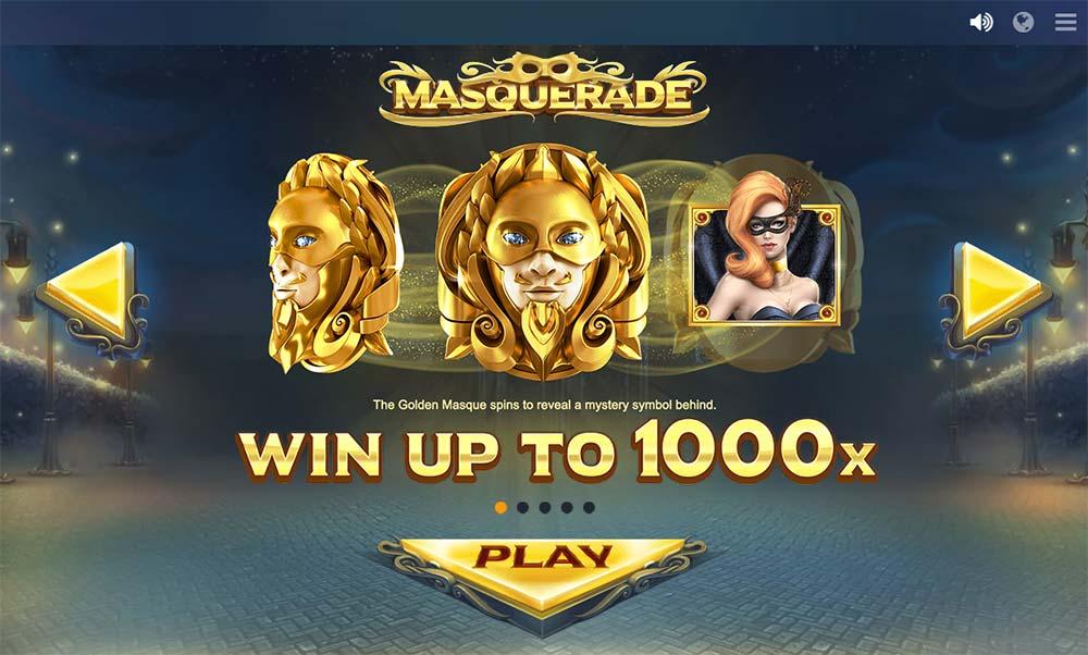 Masquerade Slot - Intro Screen