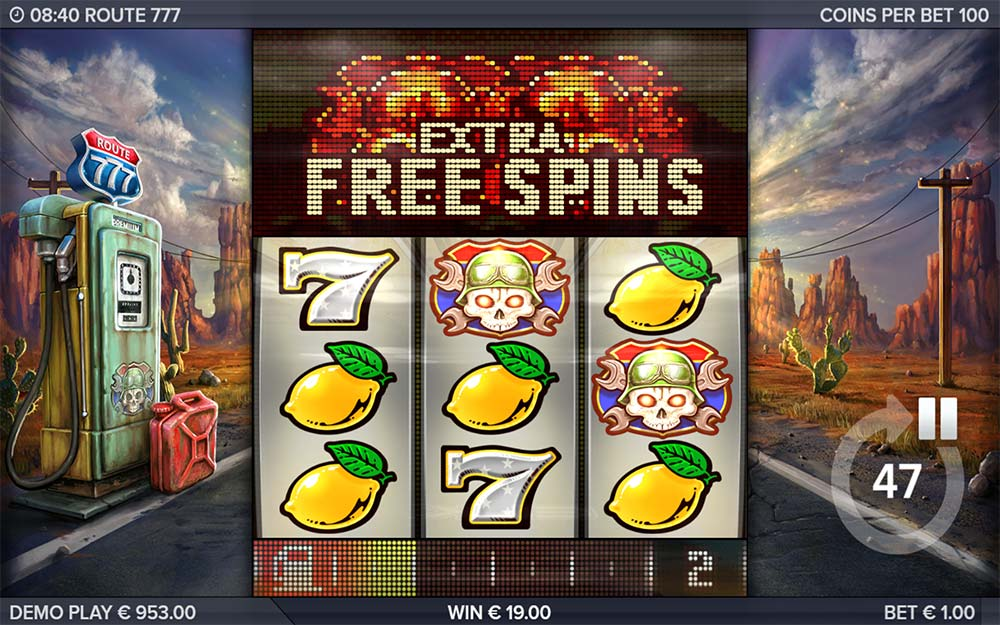 Route 777 Slot - Extra Free Spins