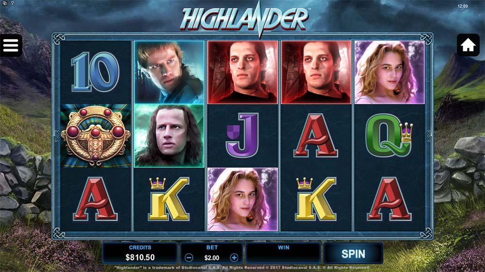 Highlander Slot - Base Game