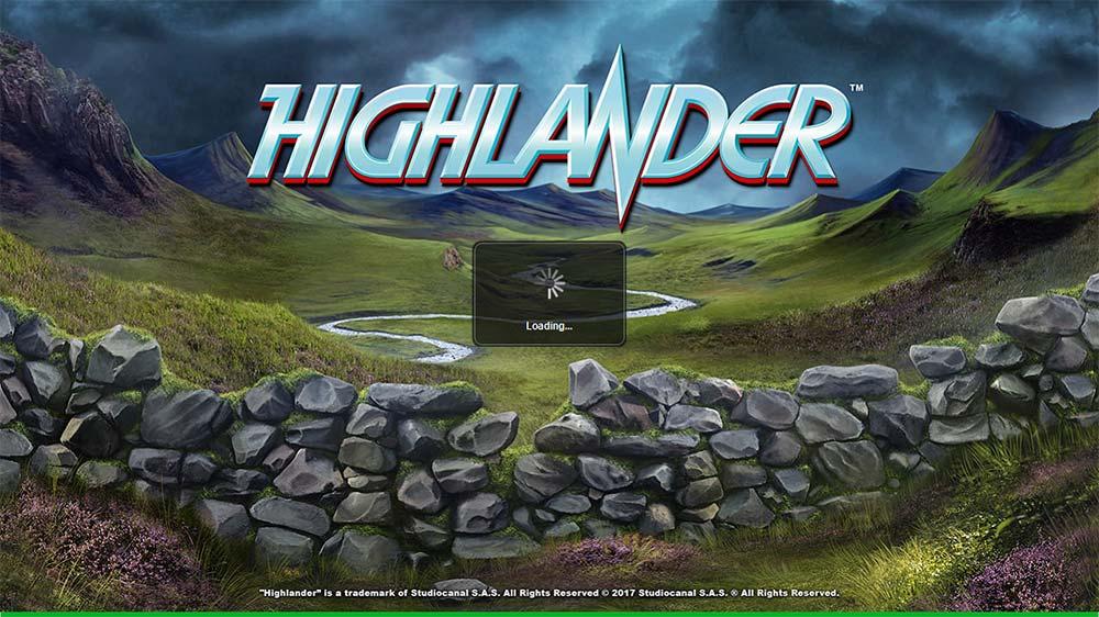 Highlander Slot - Intro Screen