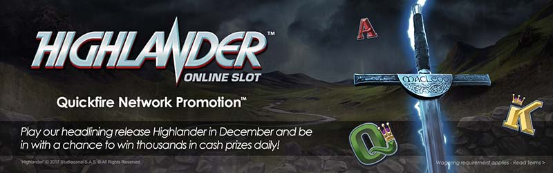 Highlander Slot launch day promotions