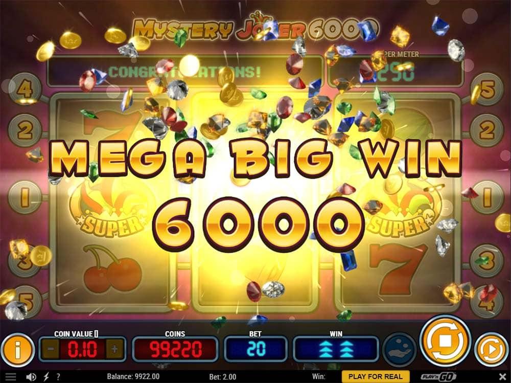 Mystery Joker 6000 Slot - Mega Big Win