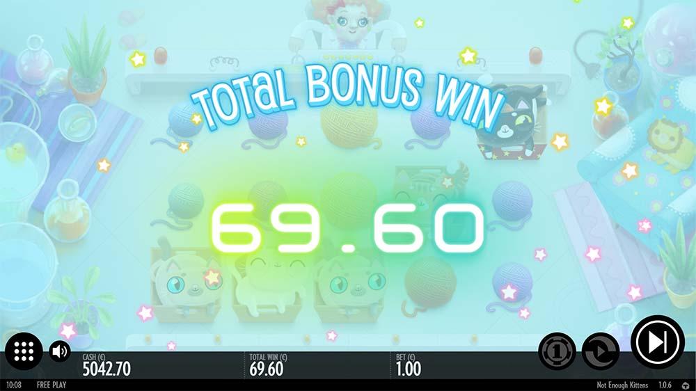 Not Enough Kittens Slot - Bonus End