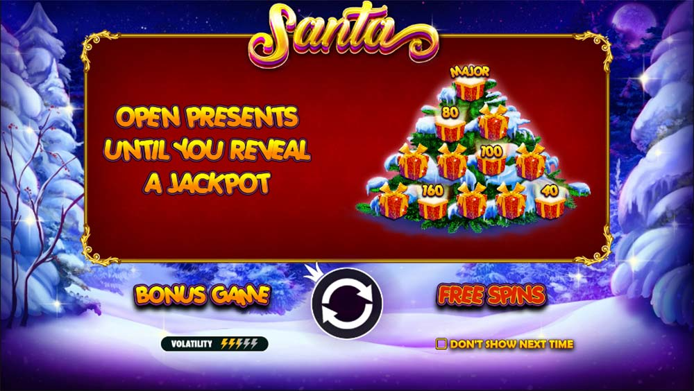 Santa Slot - Intro Screen