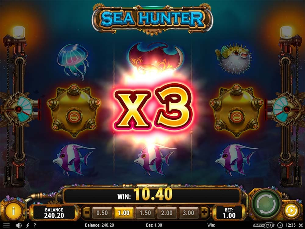Sea Hunter Slot - Multiply Mortar Feature