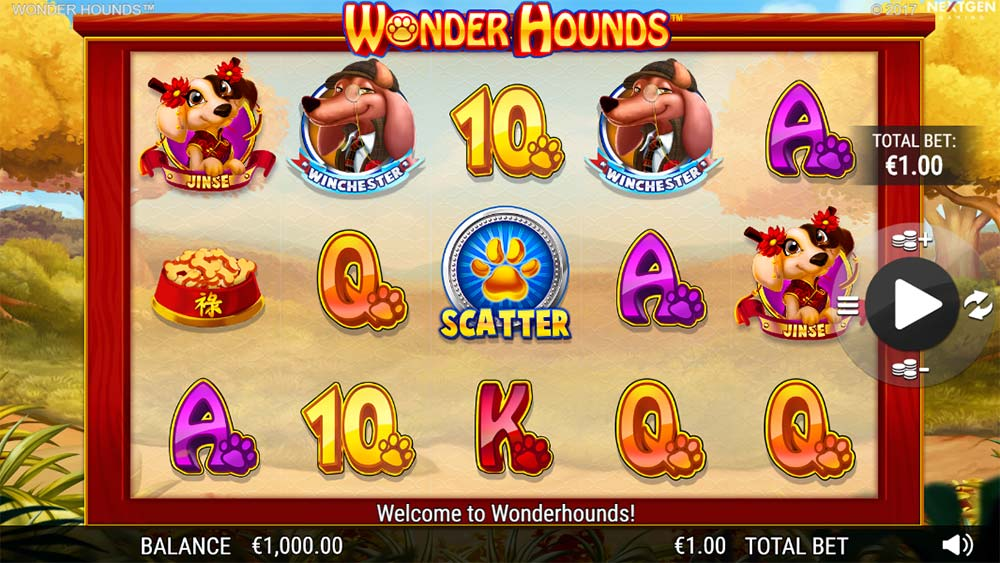 Wonder Hounds Slot - Base Game