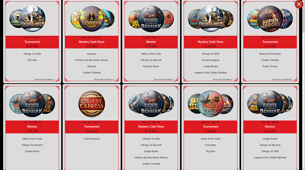 Yggdrasil Slots Tournament Schedule