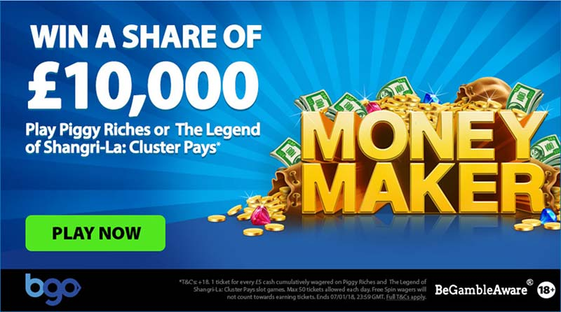 £10,000 Money Maker Promotion at BGO Casino